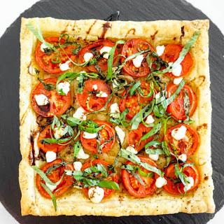 Tomato, Basil & Goat Cheese Tart