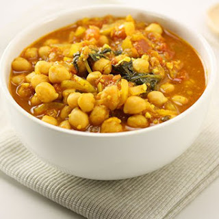 Curried Chickpea & Spinach Stew