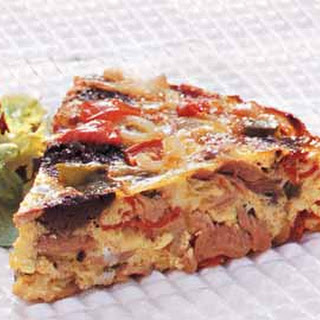 Basque-Style Tortilla with Tuna and Tapenade