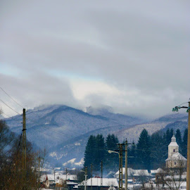 Rural View by Alexandru Lupulescu - Uncategorized All Uncategorized ( mountains, snow, church, rural view, winter, romania )