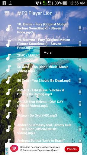 MP3 Player Lion - Music Free 2.5 screenshots 2