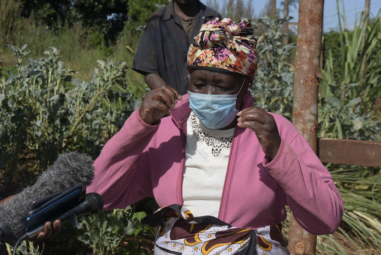 Teresia Nyokabi, at her Gachugi village home in Gatundu North on Monday. Her two cows were stolen on Sunday night.