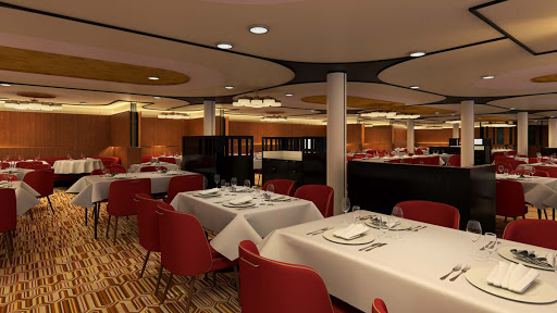 A look at the upscale Flamingo restaurant that will debut on Carnival's Mardi Gras (rendering).