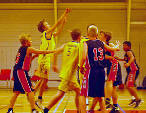 Photo: I´ve been cheering +Ole Syver Gulbrandsen  and his team this weekend playing basketball. He is putting all his efforts into the playing!