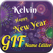 New Year GIF Name Editor & Maker