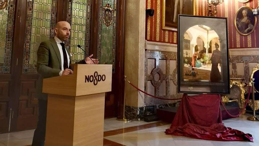 Fernando Vaquero, en la presentación de su cartel de las Fiestas de Primavera de Sevilla.