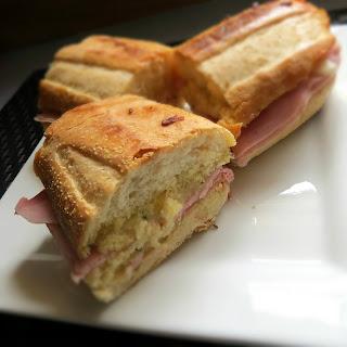 Crispy Garlic Bread Sandwich.