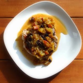 Pork Chops with Rhubarb Chutney Recipe