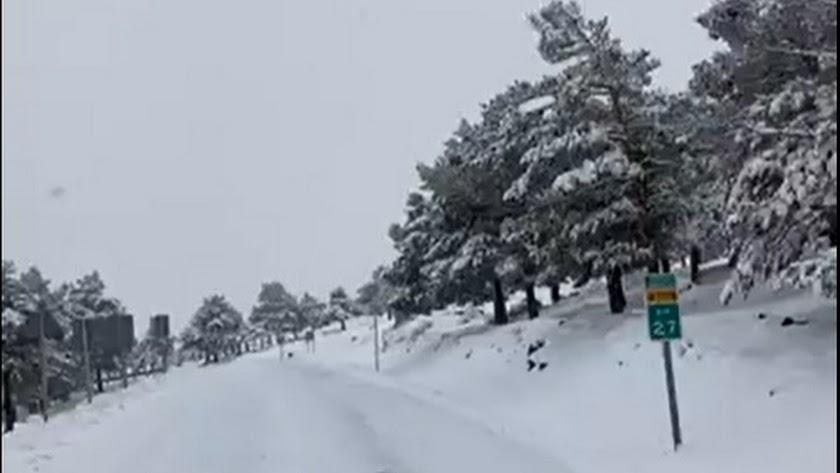 imagen del vídeo compartido por el Camping de Las Menas.