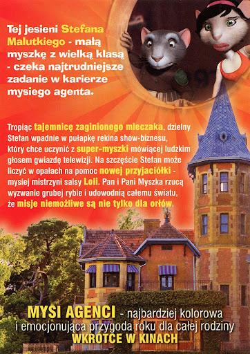 Tył ulotki filmu 'Mysi Agenci'