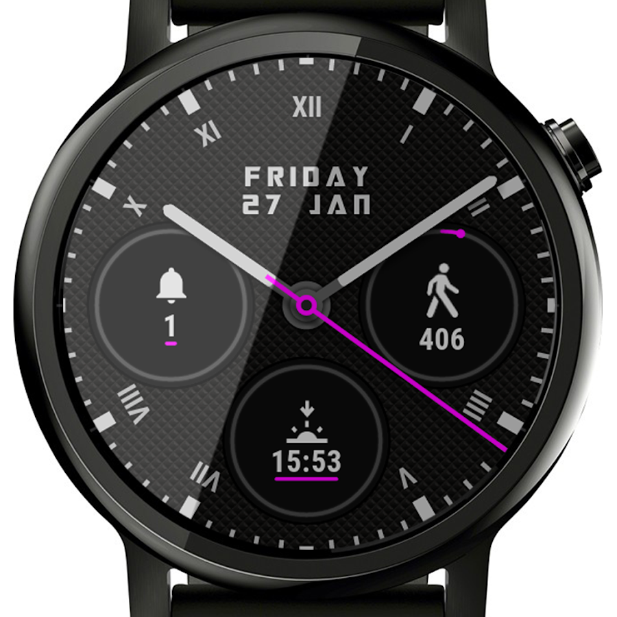 🕐 Ksana Sweep Watch Face for Android Wear- screenshot