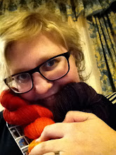 Photo: The show hasn't even started yet but I already have my skein from I Knit and a Deeply Wicked Gem from jon to snuggle!
