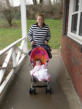 Photo: Olive's first walk with Nana.