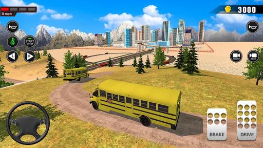 Offroad School Bus Driving: Flying Bus Games 2020 1.30 screenshots 3