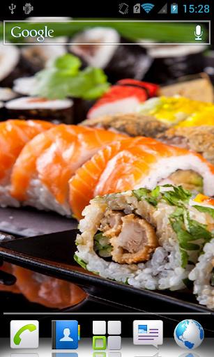 Sushi HD Live wallpaper