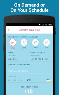 Heal - On-demand doctor visits- screenshot thumbnail