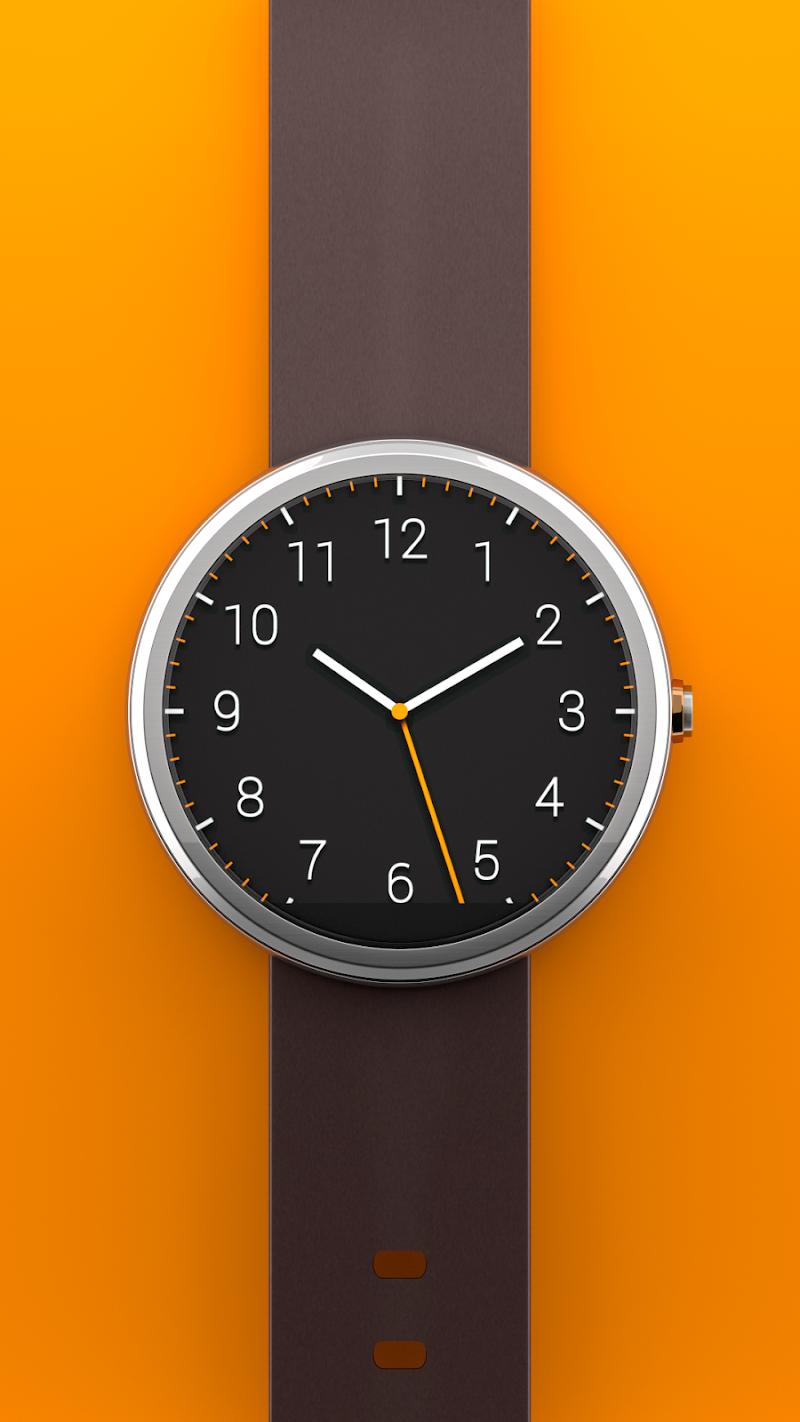 Скриншот Dark Analog Free Watch Face