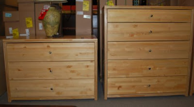Photo: Choose between our 2 most popular dressers the 3 drawer or 5 drawer dresser.