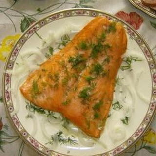 Grilled Gingered Salmon.