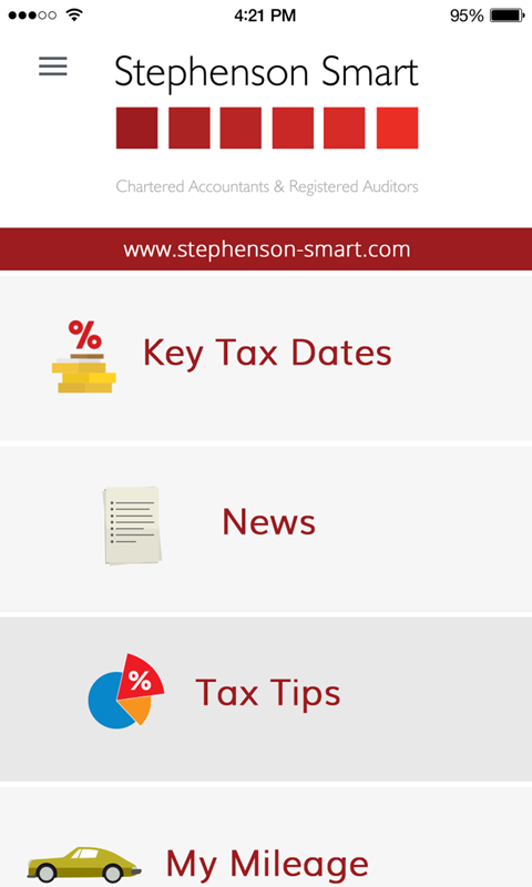 Stephenson Smart Tax App- screenshot