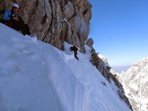 Photo: Sitna prečka v gnilem snegu