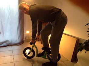 Photo: Kévin et son nouveau vélo