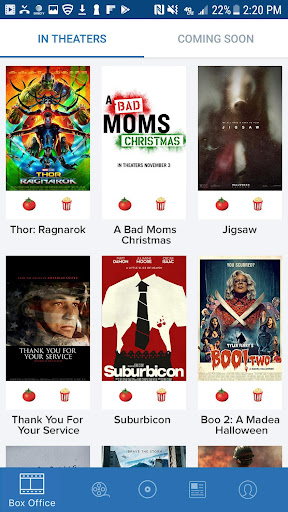 Movies by Flixster, with Rotten Tomatoes screenshot