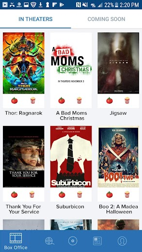 Screenshot 0 for Rotten Tomatoes's Android app'