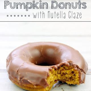 Pumpkin Donuts with Nutella Glaze.