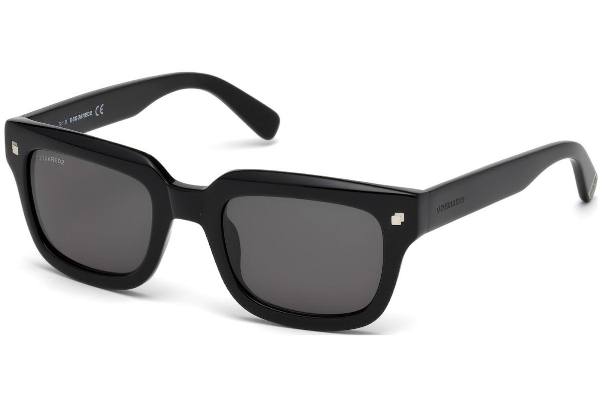 27ff6af44fb Buy Dsquared2 Luke T. DQ0238 C52 01A (shiny black   smoke) Sunglasses