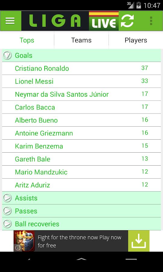 Liga Live- screenshot