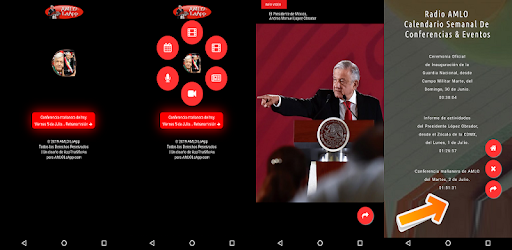 Follow AMLO with the first application dedicated to the President of Mexico.