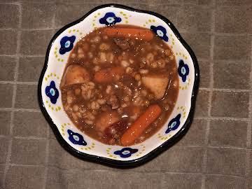 BEEF VEGETABLE BARLEY LENTIL SOUP