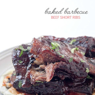 Baked Barbecue Beef Short Ribs.