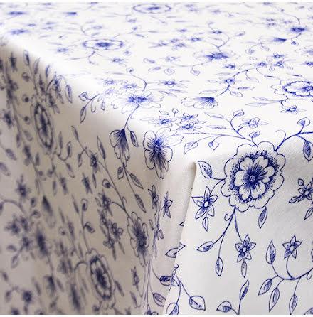 Blomma Vaxduk - blå