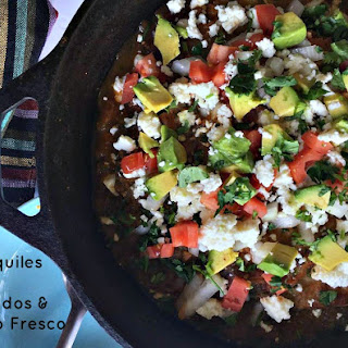 Chilaquiles With Avocados & Queso Fresco.