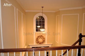Photo: AFTER: FOYER CROWN, PICTURE FRAMES AND WINDOW TRIM