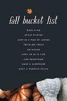 Fall Bucket List - Pinterest Pin item