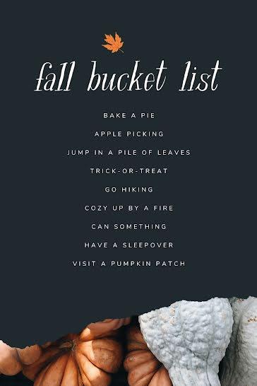 Fall Bucket List - Pinterest Pin template