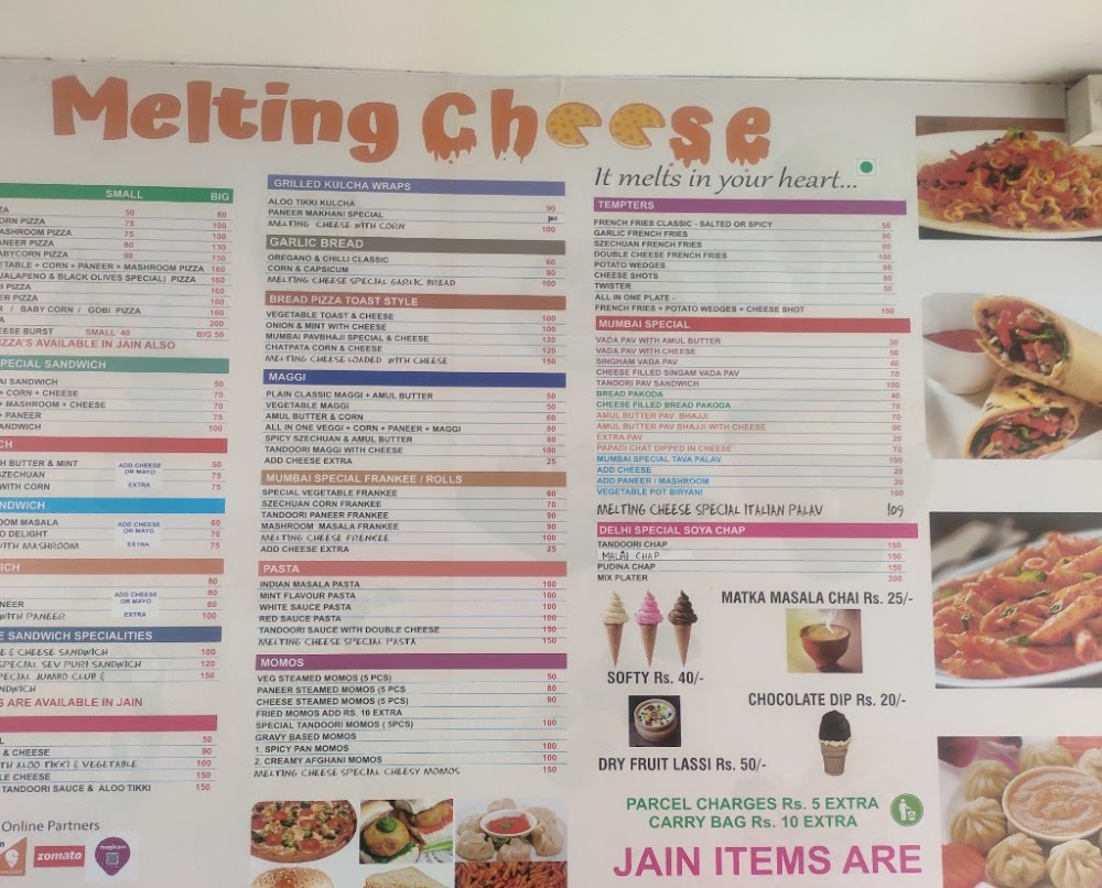 Melting Cheese menu 1