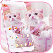 Cute Pink Kitty Theme