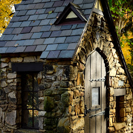 Mini Gatehouse by Millieanne T - Buildings & Architecture Other Exteriors ( quaint, playhouse, tudor, stone )
