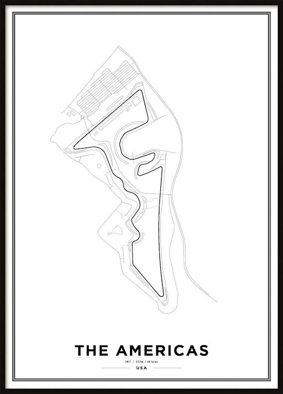 Poster, Circuit of the Americas Formula 1 Print Vit