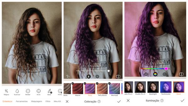 Como fazer fotos Neon