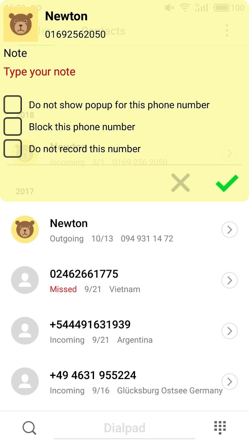 PRO Note Call Recorder Screenshot 2