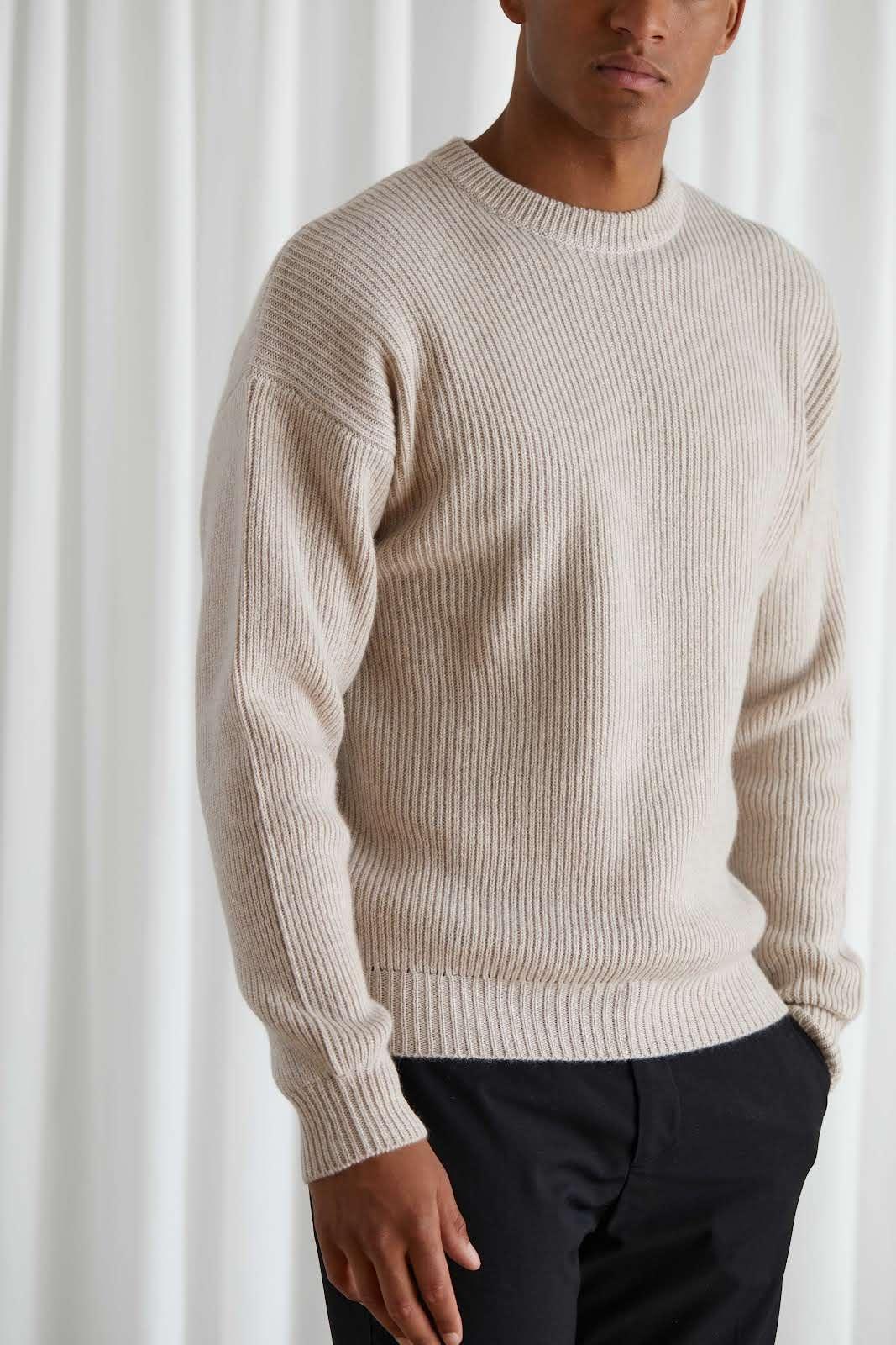 Man Chunky Rib Sweater
