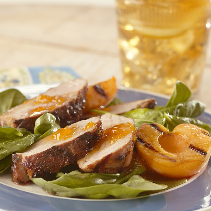 Asian Spiced Pork Tenderloins with Apricot Sauce Recipe