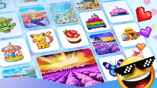 Pix123 - Color by Number, Pixel Art Relaxing Paint 2.2.6.4 screenshots 9