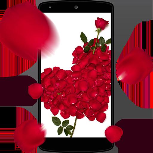 장미 꽃잎 3D 라이브 배경 화면 個人化 LOGO-玩APPs