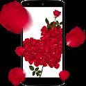 Rose petals 3D Live Wallpaper icon